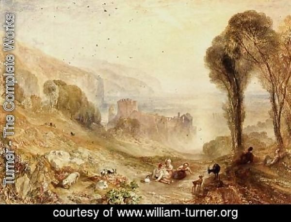 Turner - Tancarville on the Seine, 1840