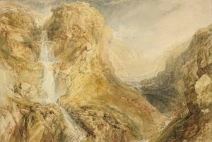 Turner - Mossdale Fall, Yorkshire, c.1816-18