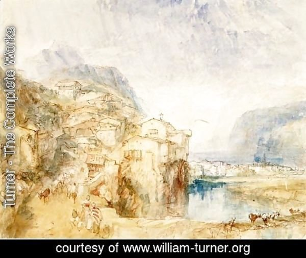 Turner - Brunnen, with Lake Lucerne in the distance, c.1842