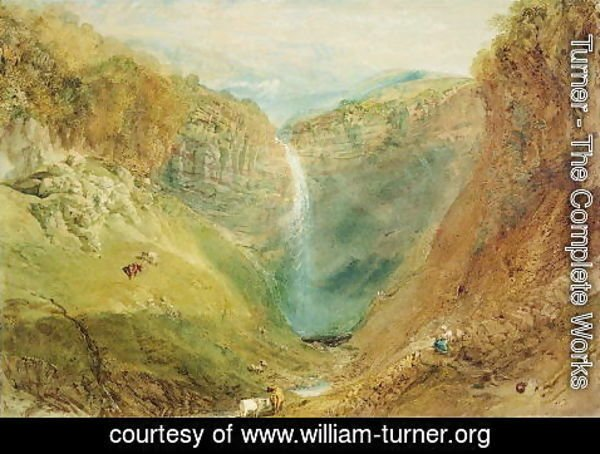Turner - Hardraw Fall, Yorkshire, c.1820
