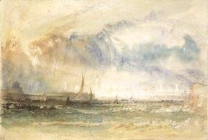 Turner - Storm at Sunset, Venice, c.1840