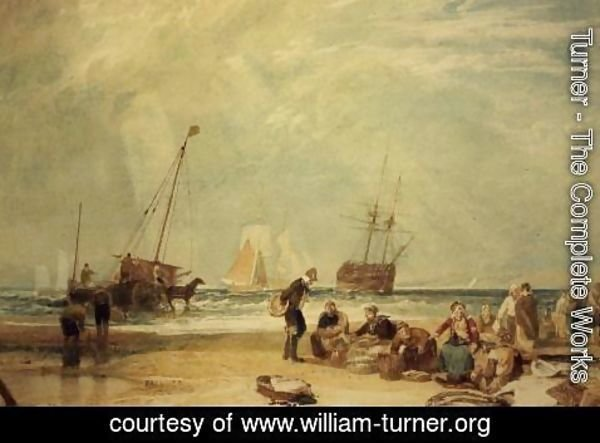 Turner - Fishmarket on the Sands, Hastings