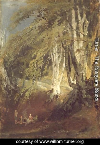 Turner - A Beech Wood with Gypsies Seated Round a Campfire, c.1799-1801