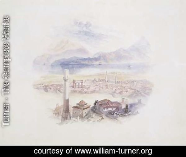 Turner - Corinth, from the Acropolis Illustration from Life and works of Byron, c.1831-32