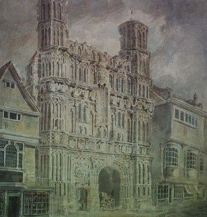 Turner - Christchurch Gate, Canterbury, c.1792-93