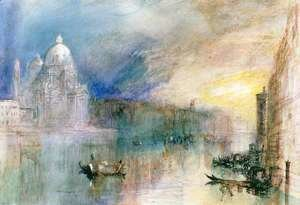 Turner - Venice Grand Canal with Santa Maria della Salute