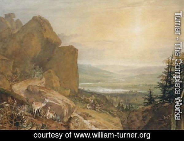 Turner - Valley of the Wharfe with Otley in the Distance