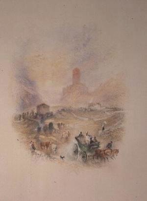 Turner - Sir Walter Scott visiting Smallholm Tower