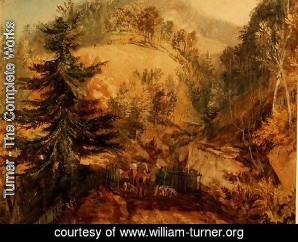 Turner - The Chevin, Otley, c.1818
