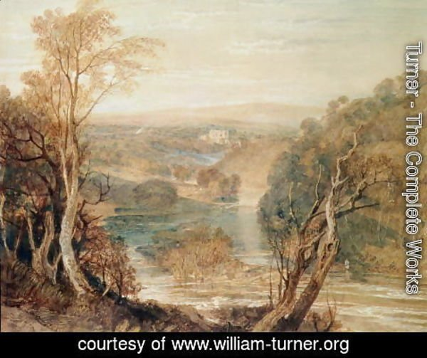 Turner - The River Wharfe with a distant view of Barden Tower