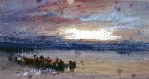 Turner - Shore Scene, Sunset
