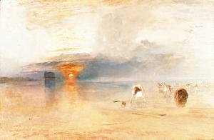 Turner - Calais Sands at Low Water, Poissards Gathering Bait, 1830