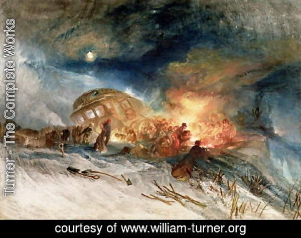 Turner - Travellers in a Snowdrift