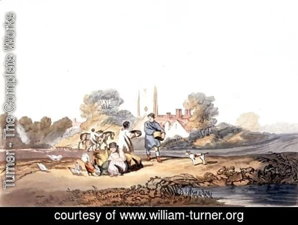 Turner - Autumn, sowing grain, 1818