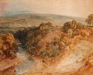 Turner - The Valley of the Washburn, Ottley Chevin in the distance