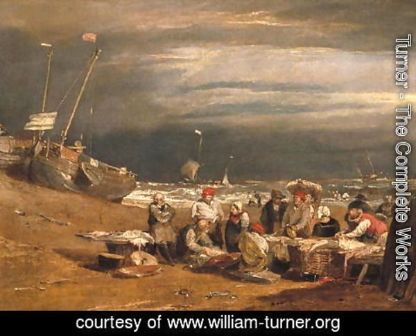 Turner - Fishmarket on the Beach