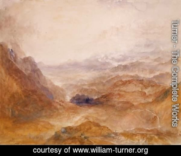 Turner - View along an Alpine Valley, possibly the Val d'Aosta