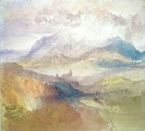 Turner - View along an Alpine Valley, possibly the Val d'Aosta 2
