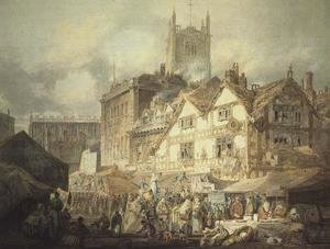 Turner - High Green, Queen Square, Wolverhampton, 1795