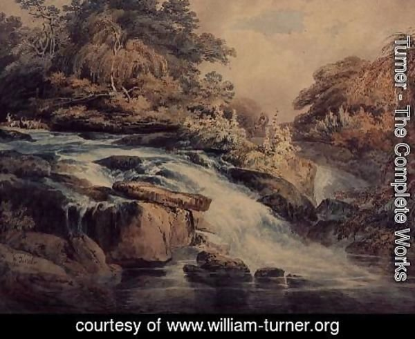 Turner - Cascade at Hampton Court, 1795