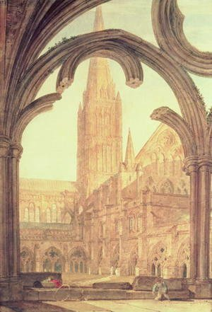 Turner - South View of Salisbury Cathedral from the Cloisters