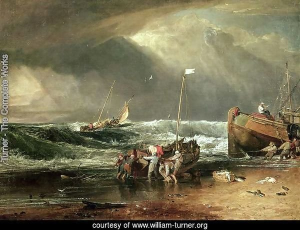The Iveagh Seapiece, or Coast Scene of Fisherman Hauling a Boat Ashore