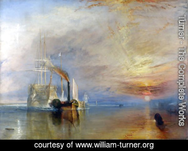 Turner - The Fighting Temeraire Tugged to her Last Berth to be Broken up, before 1839
