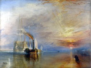 The Fighting Temeraire Tugged to her Last Berth to be Broken up, before 1839