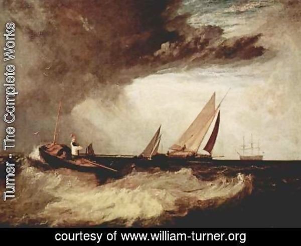 Turner - A fisherman from Bury Shoe Ness preit a Prahm of Whitstable