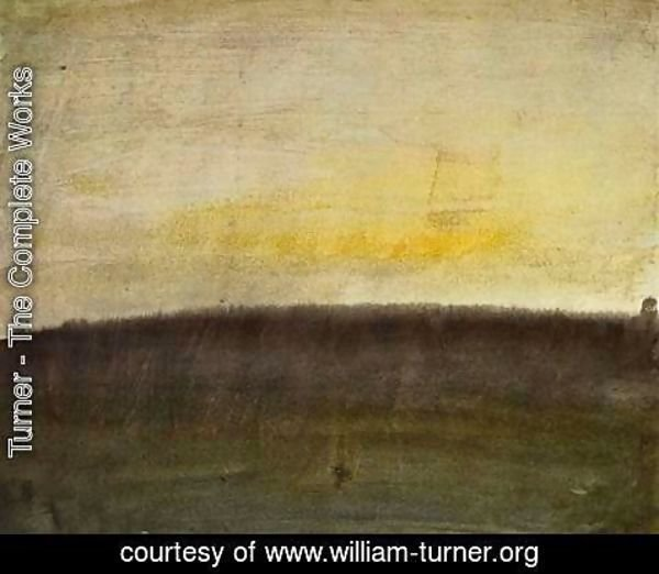 Turner - Beginnings with color, pink skies