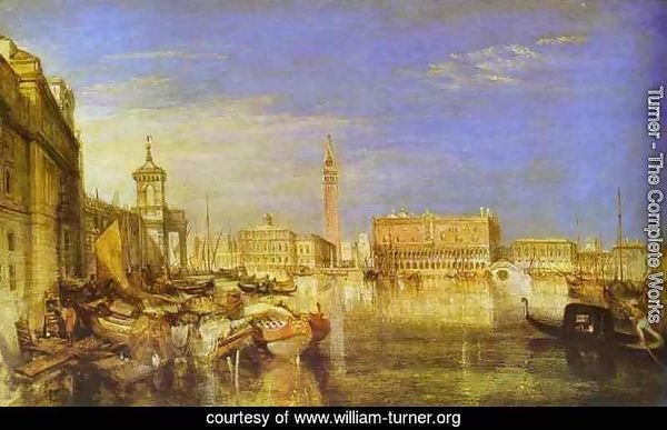 Bridge of Signs, Ducal Palace and Custom-House, Venice_ Canaletti Painting