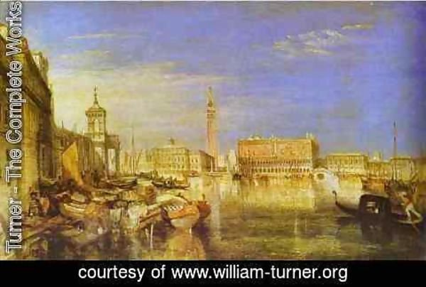 Turner - Bridge of Signs, Ducal Palace and Custom-House, Venice_ Canaletti Painting
