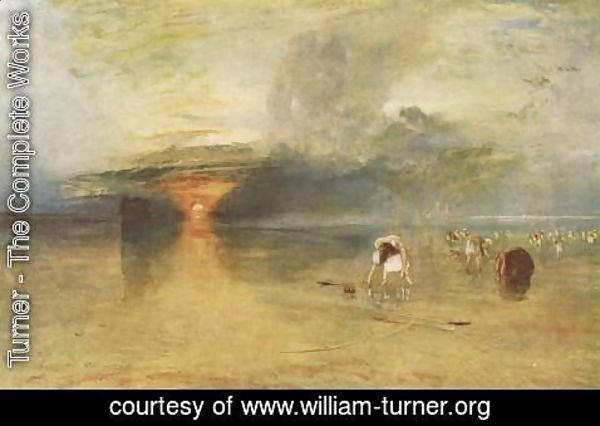 Turner - Fish seals collect beach of Calais at ebb-tide, Poissards