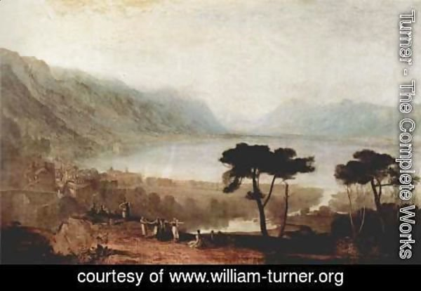 Turner - Geneva lake seen from Montreux