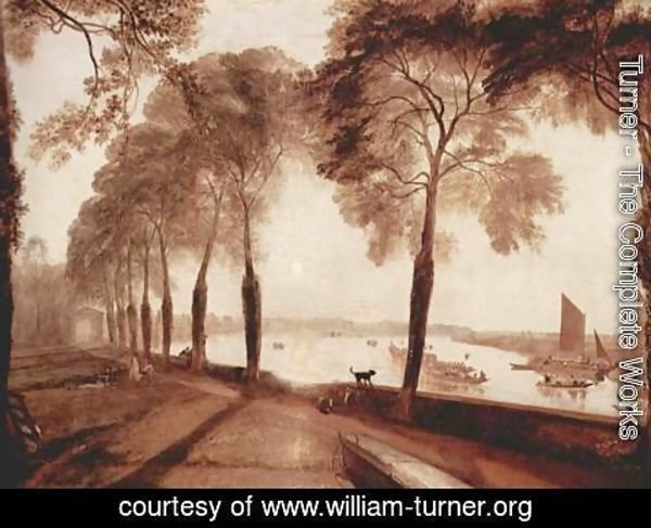 Turner - Mortlake Terrace, the home of W. Sliam Moffat, Sommerarbend