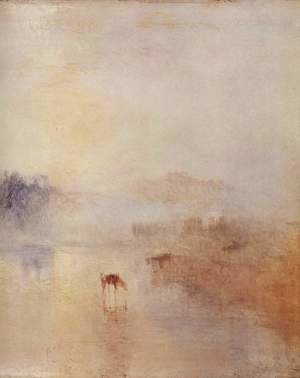 Turner - Norham Castle with sunrise, detail
