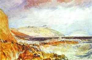 Turner - Pendennis Castle, Cornwall_ Scene after a Wreck