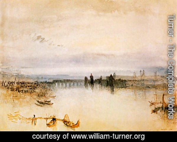 Turner - Sketch of the town center of Konstanz