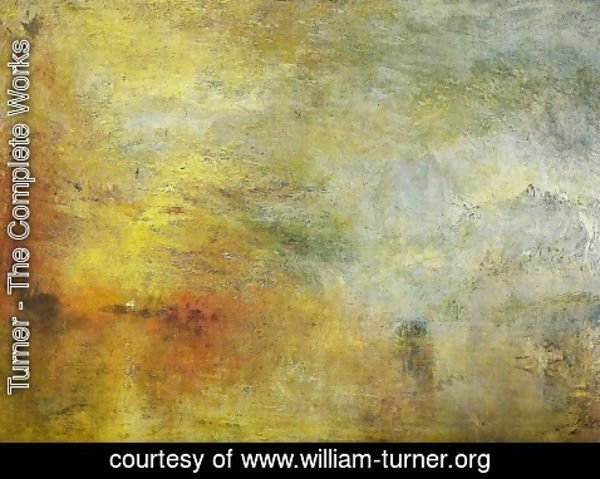 Turner - Sun Setting over a Lake