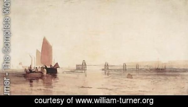 Turner - The chain jetty of Brighton