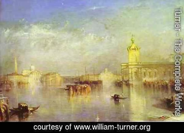 Turner - The Dogana, San Giorgio, Citella, From the Steps of the Europa