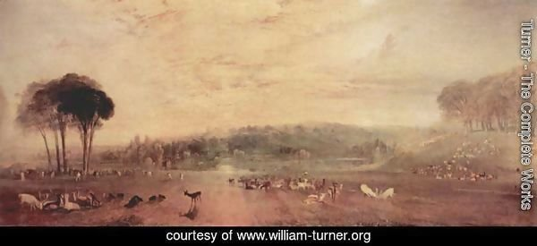 The lake, Petworth, sunset and goats