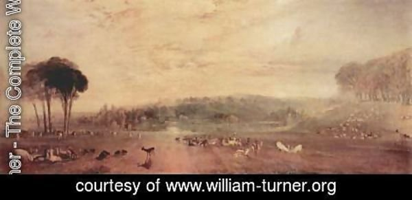 Turner - The lake, Petworth, sunset and goats