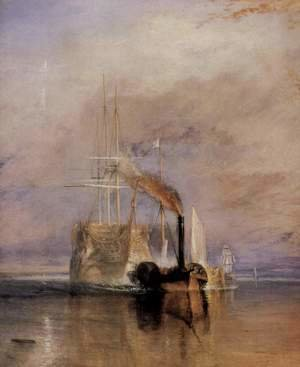 Turner - The last travel of the Fighting Témeraire, (detail)