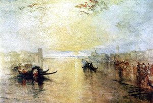 Turner - Venice, San Benedetto, view of Fusina