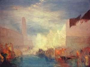 Turner - Venice. Opinion of the Piazzetta