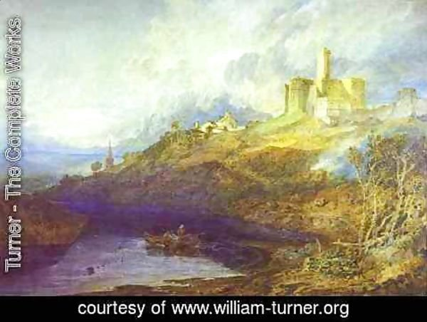 Turner - Warkworth Castle, Northumberlan