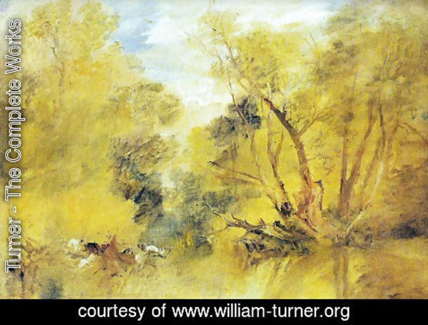 Turner - Willows on the brink of a madness brook