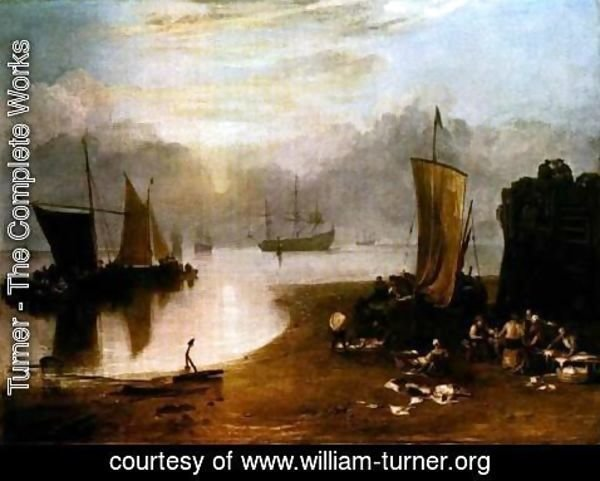 Turner - Sun Rising Through Vapor, Fisherman Cleaning and Selling Fis