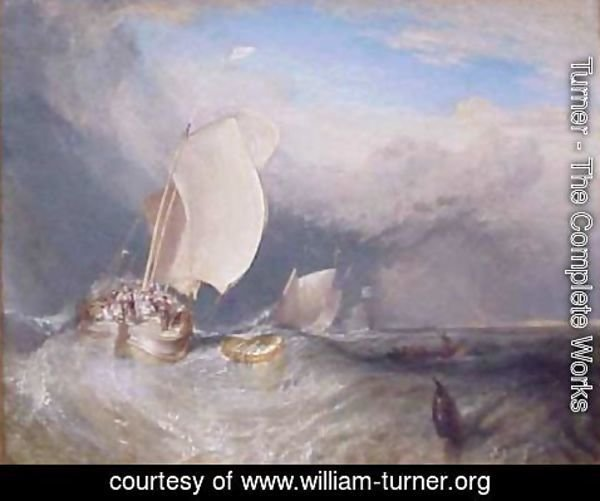 Turner - Fishing Boats with Huckster Bargaining for Fish
